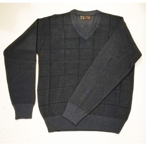 Vékony gépi kötött férfi pulóver XL