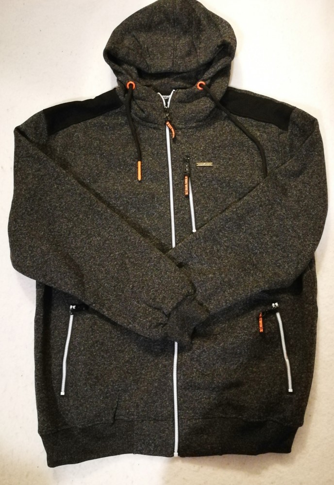 férfi cipzáras kapucnis pulóver 4xl