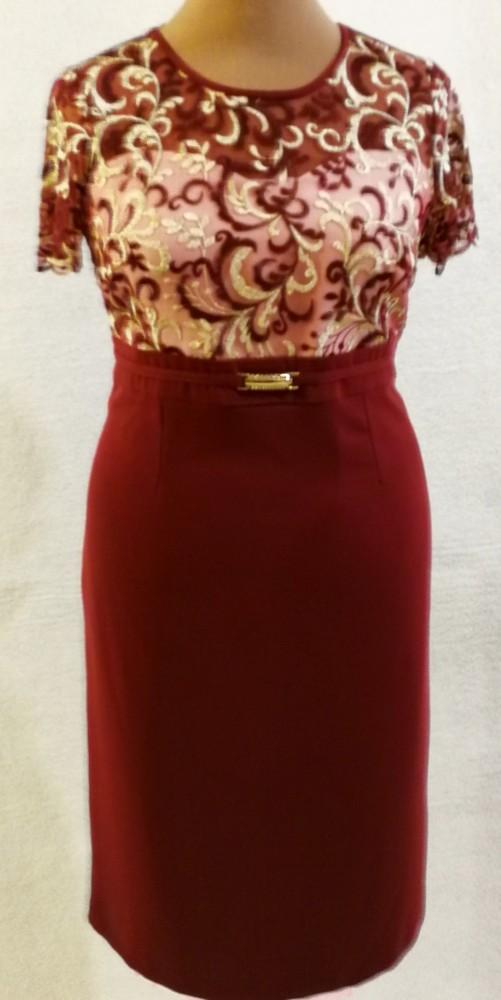 20118ab1b6 Gyönyörű két részes alkalmi ruha, ruha része bordó alapszínű,  selyembéléses, elől felső része