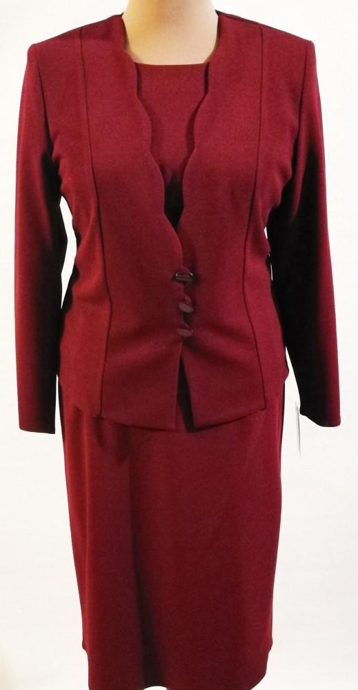 ba0d796720af Gyönyörű, bordó színű, három részes alkalmi kosztüm, szoknya része selyem  béléses, cipzáras