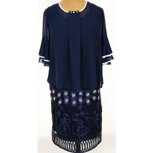Fehér színű hímzéssel díszített, muszlin  anyagú alkalmi ruha 42-44