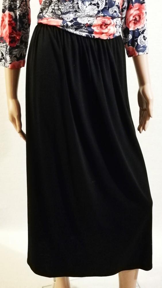45b4bbf48c Fekete színű, vastag, gumis derekú, vékonyabb, pamut anyagú, maxi szoknya