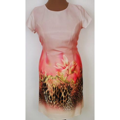 Színátmenetes, rózsaszín alapszínű, alkalmi ruha 42-50