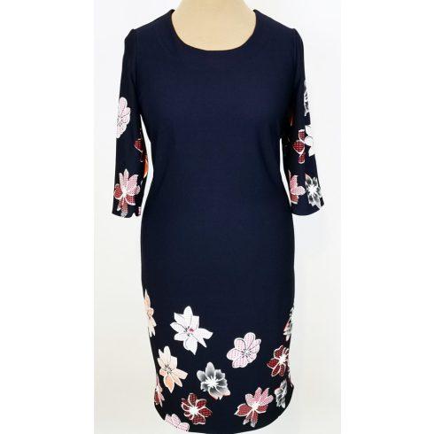 Nagy színes virág mintával díszített ruha 42, 50