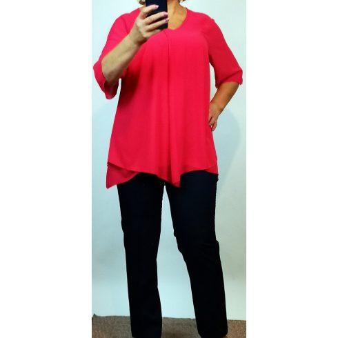 Két részes alkalmi, nadrág kosztüm, felső része pink színű 46, 50, 56