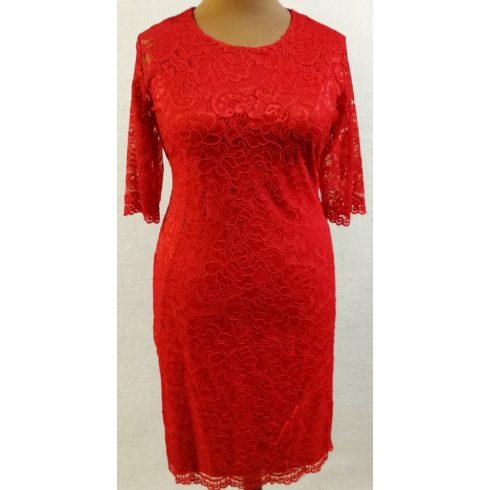 Selymes, rugalmas anyagú csipke ruha XL