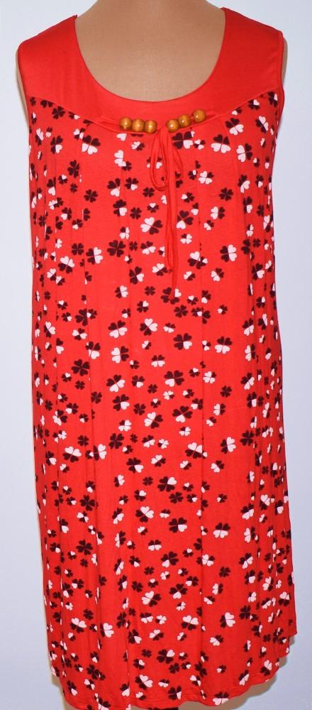 0514c486fb Kerek nyakú, ujjatlan, elől-hátul apró virág mintával díszített, vékony,  könnyű